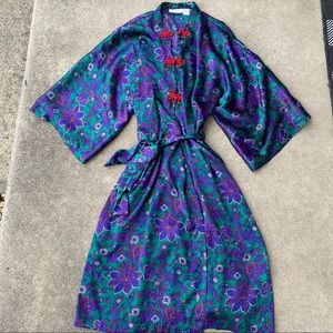 Victoria's Secret Vintage Satin Floral Robe